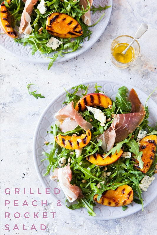 Grilled Peach & Rocket Salad